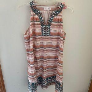 THML Striped Sleeveless Boho Dress Size S